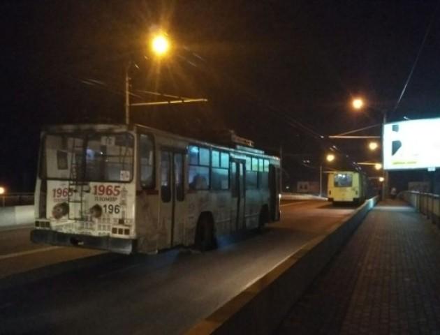 У Луцьку раптово зупинилися тролейбуси