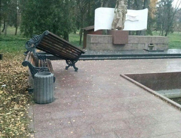 У луцькому парку «похазяйнували» вандали. ФОТО