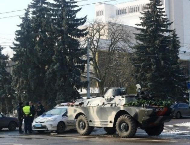 Стало відомо, що у центрі Луцька робила військова БРДМ. ФОТО