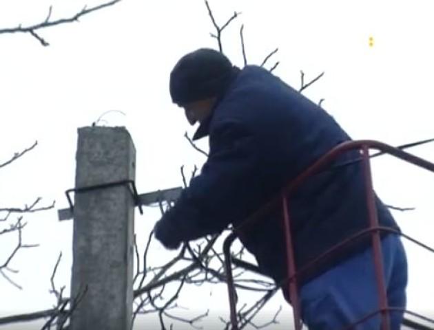У луцькому парку 900-річчя встановлюють світильники. ВІДЕО
