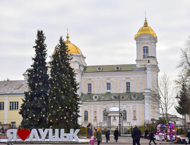 На Театральному майдані Луцька шукають місце для висадки нової новорічної ялинки