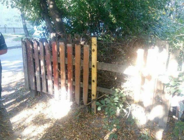 Розвели під вікнами чагарники: у Луцьку муніципали зносять паркани біля багатоповерхівок. ФОТО