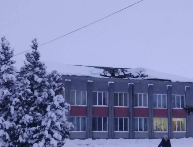 У сільському клубі на Волині обвалився дах. ФОТО