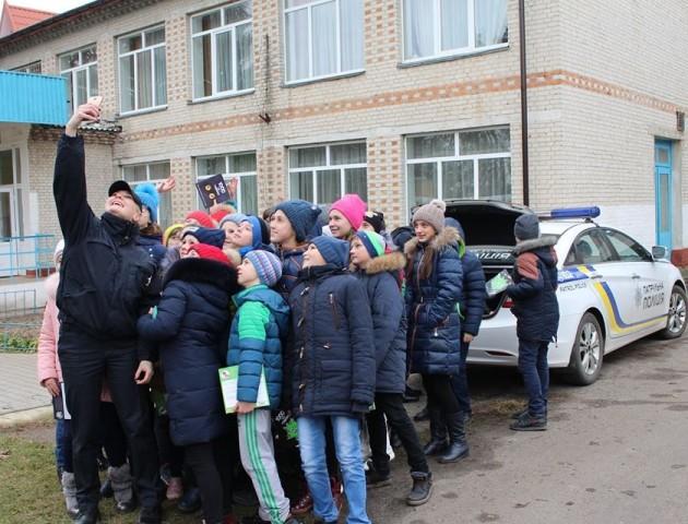 Патрульна поліція відвідала школу в Люблинці. ФОТО