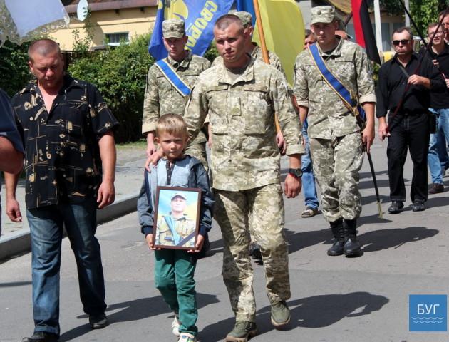У Володимирі поховали загиблого на Донбасі Василя Крищука