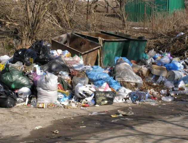 Лучани нарікають на несвоєчасне вивезення сміття