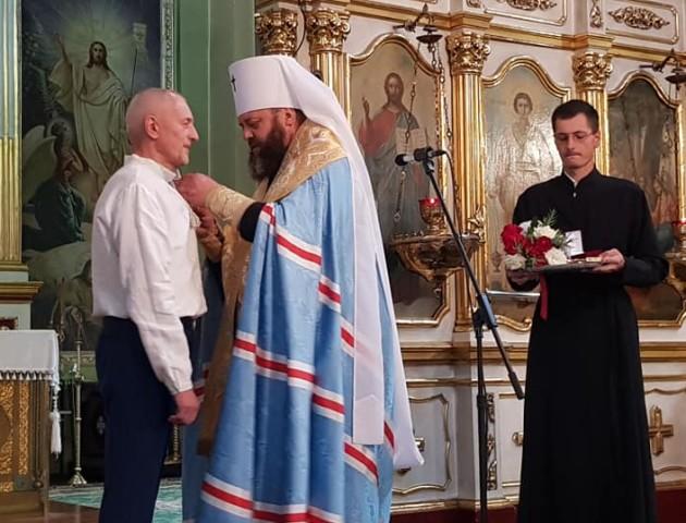 Олександра Савченка нагородили орденом від духовенства. ФОТО