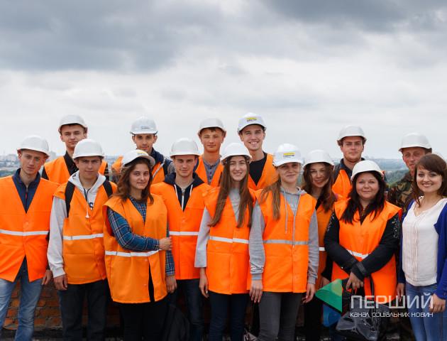 Дворівневі квартири та панорама на місто: луцькі студенти побували на екскурсії у ЖК «Супернова»