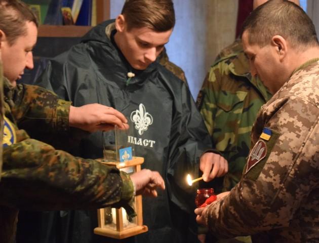 Українські пластуни доставили Вифлеємський Вогонь Миру до району  АТО.ФОТО