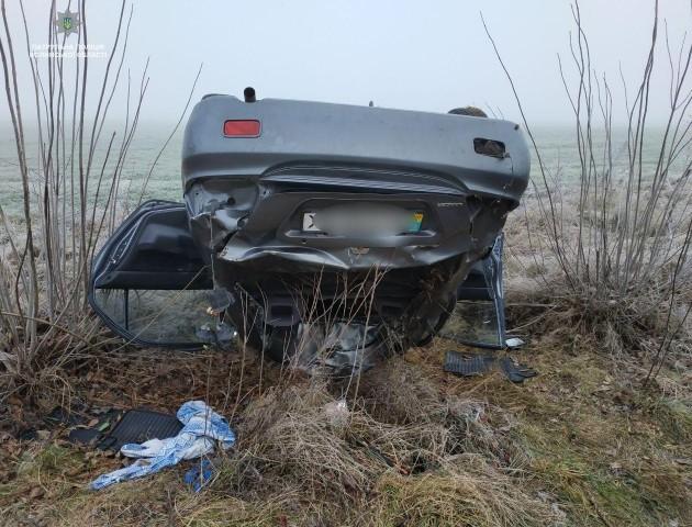 Три автомобілі злетіло в кювет: волинян попереджають про слизьку дорогу. ФОТО