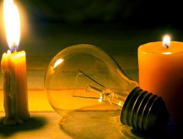 Графік відключення світла на Волині 1 серпня