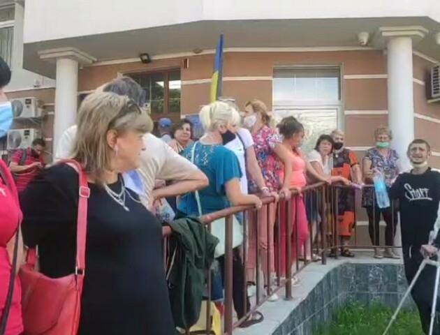 У Луцьку другий день протестують підприємці та ветерани АТО