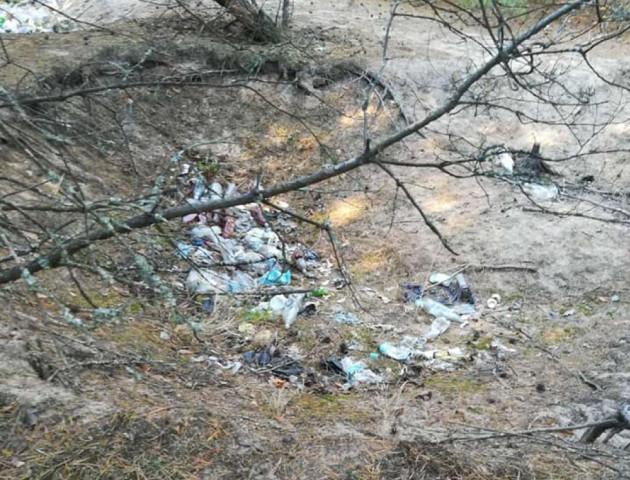 Ліс у Шацьку завалили сміттям. ФОТО