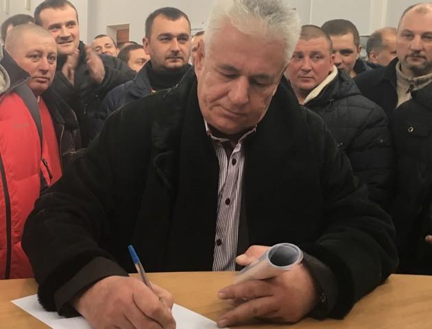 Директор шахти №9 «Нововолинська» написав заяву про звільнення