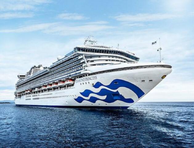 З круїзного лайнера Diamond Princess евакуювали всіх пасажирів та членів екіпажу