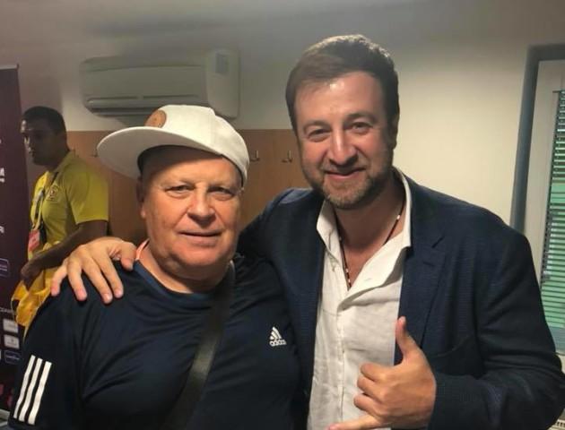 Голова Рівненської федерації футболу похизувався селфі з Кварцяним. ФОТО