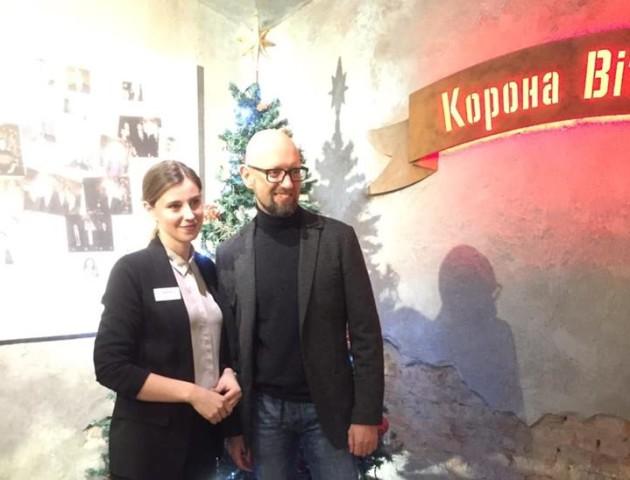 Яценюк обідав у луцькій «Короні Вітовта». ФОТО