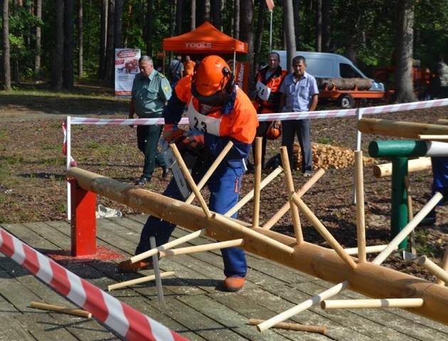 На Київщині – змагання лісорубів. ФОТО