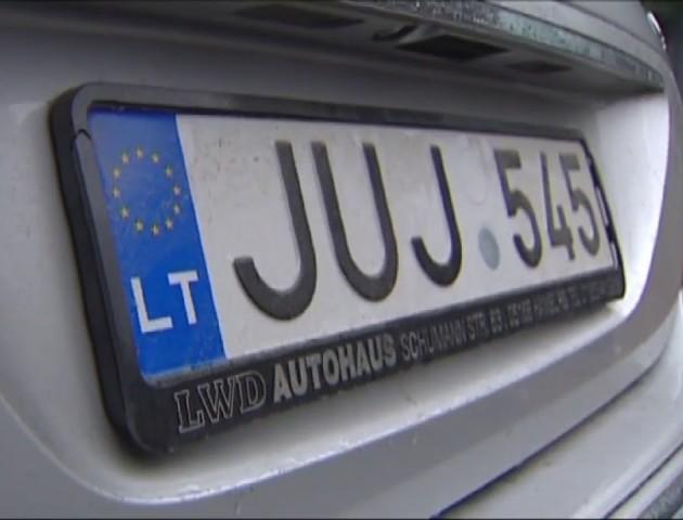 На Волині у вільний обіг випустили 601 «транзитне» авто