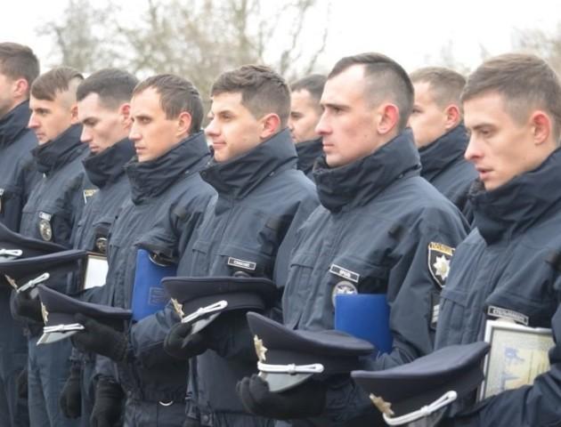 46 нових співробітників поліції Луцька прийняли присягу. ФОТО