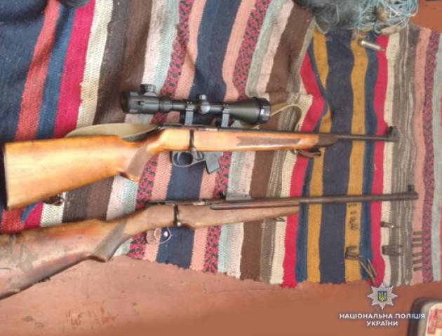 У Камінь-Каширському районі поліція вилучила зброю та боєприпаси