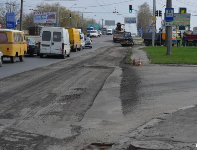 У Луцьку попереджають про затори через ремонт на Рівненській
