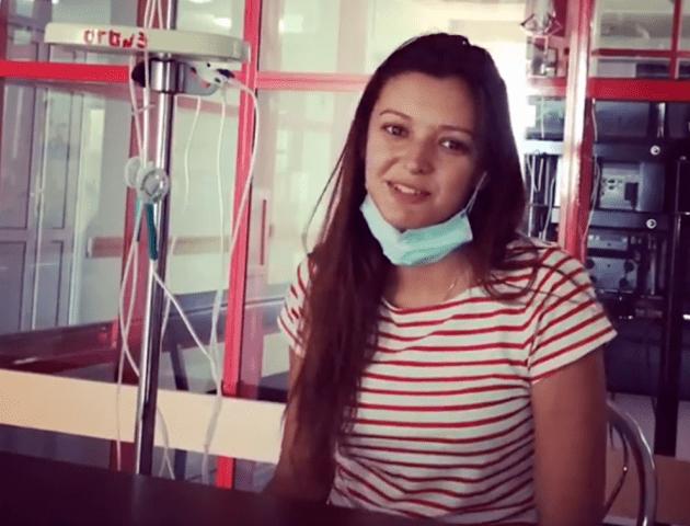 «Щоб не лити соплів»: онкохвора лучанка записала відеозвернення перед «хімією»