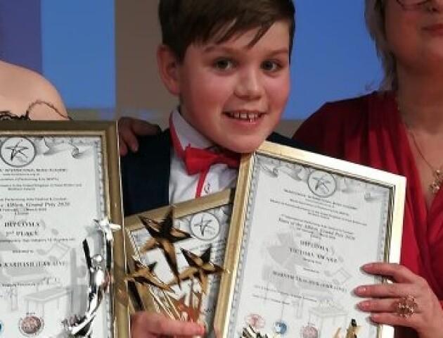 12-річний волинянин переміг у співочому конкурсі в Лондоні