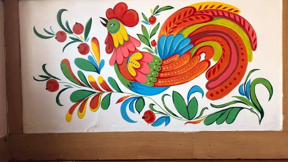 На стінах луцької школи «ожили» герої відомої художниці Марії Примаченко