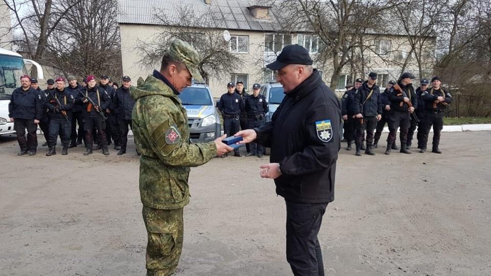 Двоє волинських правоохоронців, які були в АТО,  отримали нагороди Верховної Ради України. ФОТО