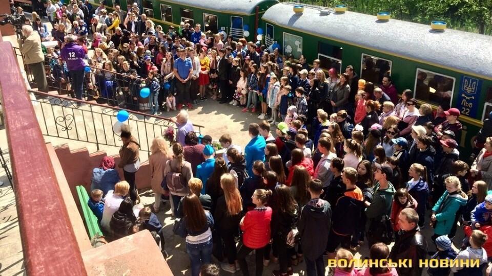 У Луцьку відкрилася дитяча залізниця
