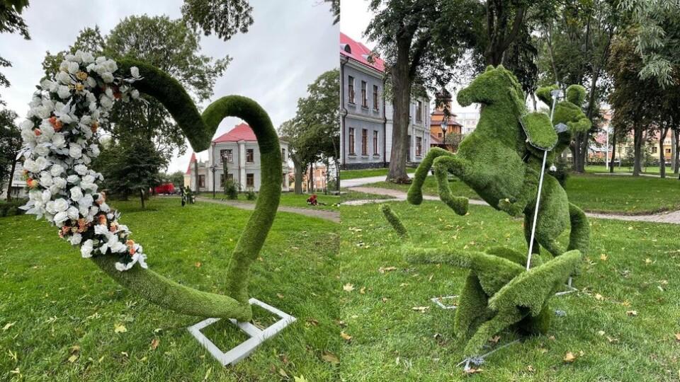 «Легенда Володимира»: на Волині відкрили парк з вічнозеленими скульптурами