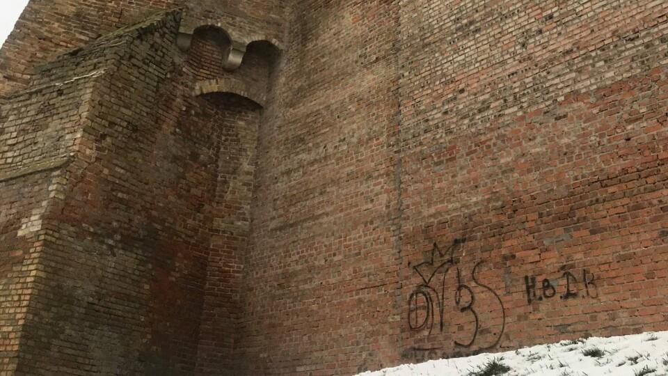 У Луцьку вандали вночі розмалювали стіну замку Любарта