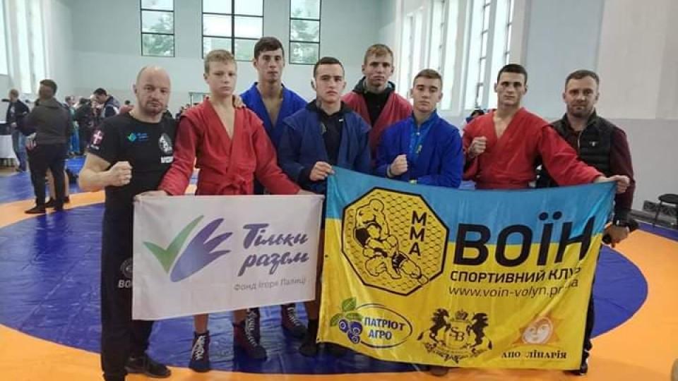 Перемоги волинських «воїнів»: на Кубку України з бойового самбо хлопці стали переможцями