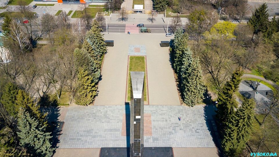 Луцький меморіал показали з висоти