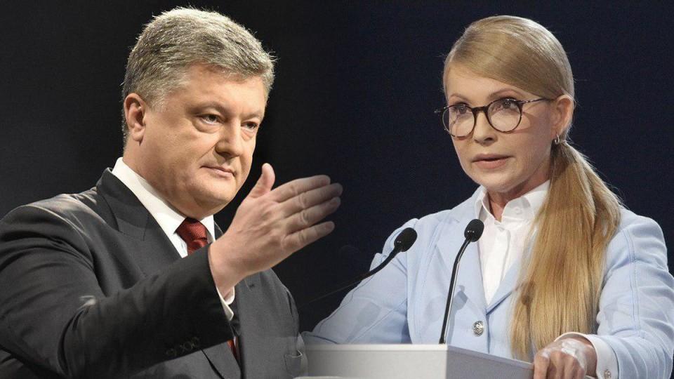 Порошенко продовжує обганяти Тимошенко, - опитування