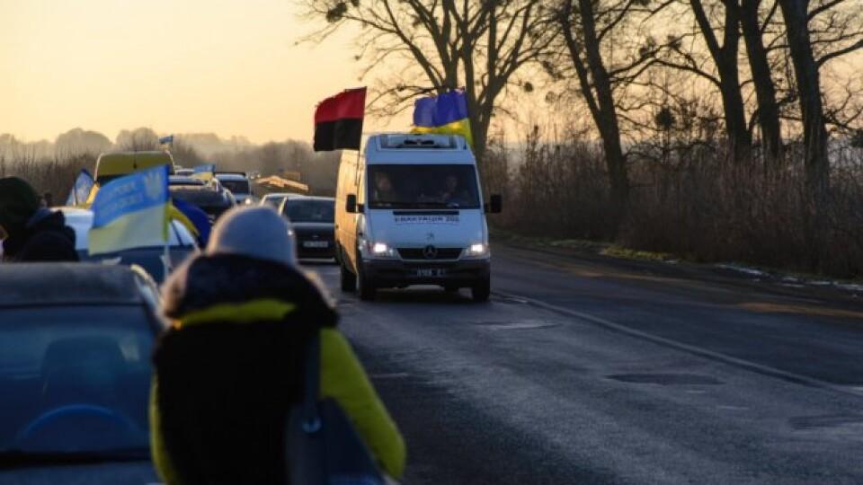 Як зустрічали полеглого на сході Миколу Сорочука у рідному селі