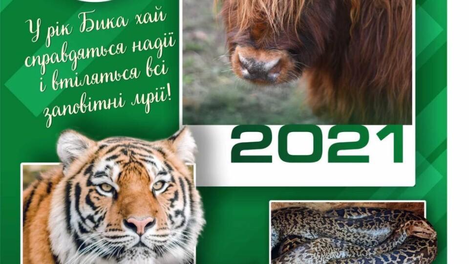 Луцький зоопарк випустив свій календар на 2021 рік. Він вже продається