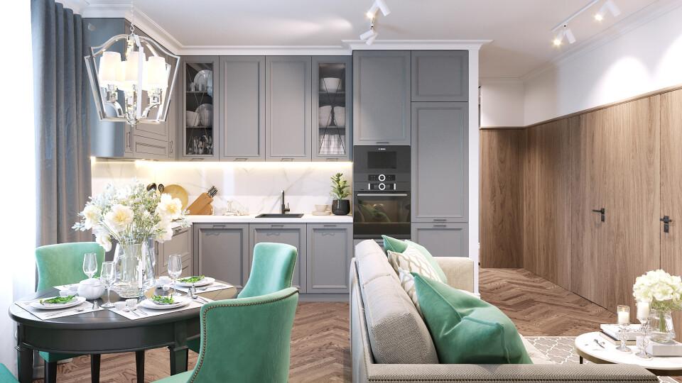 Світлі, просторі, стильні: якими будуть кухні-студії у ЖК «Амстердам»