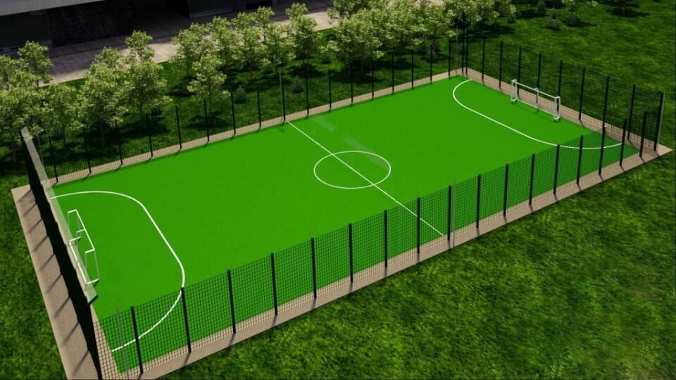 У селі поблизу Луцька побудують сучасний спортивний майданчик