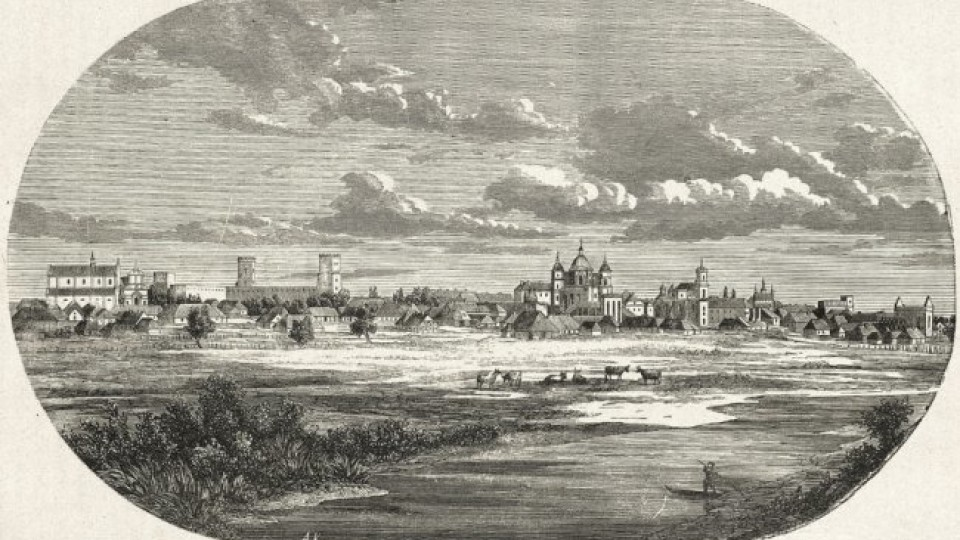 Панорама Луцька і храм у Володимирі: волинські міста на малюнках ХІХ століття