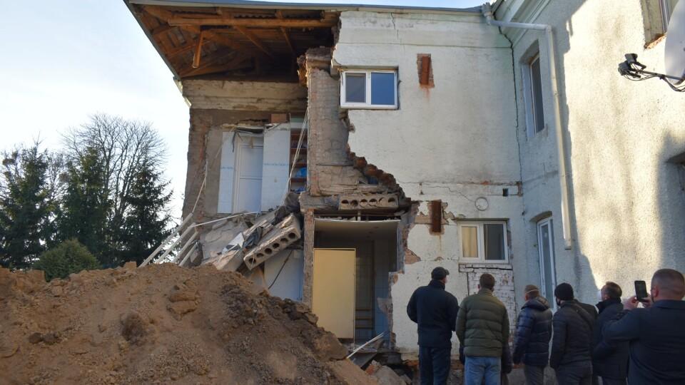 У Горохові обвалилась частина будівлі психоневрологічного інтернату