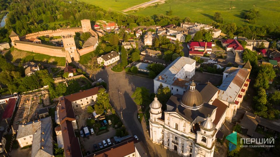Старе місто Луцька з висоти пташиного польоту