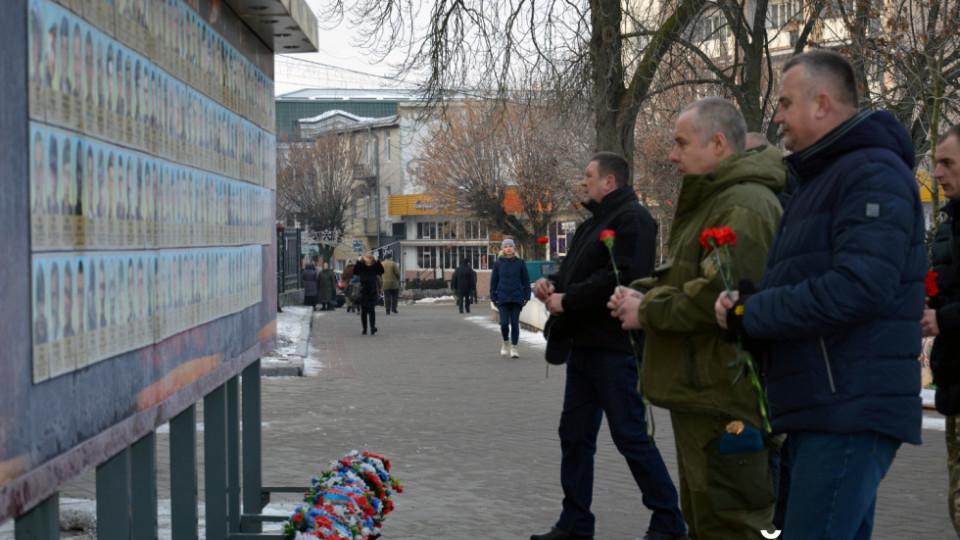 У Луцьку вшанували пам'ять полеглих «кіборгів». ФОТО