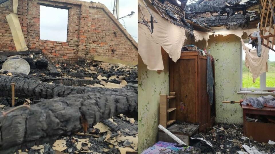 Ветерани та волонтери самотужки лагодять згорілу хату АТОвцю з Волині