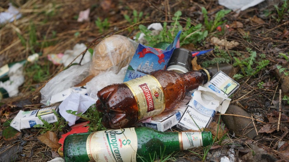 У селі на Волині сміття вивозять до лісу вантажівками. ФОТО