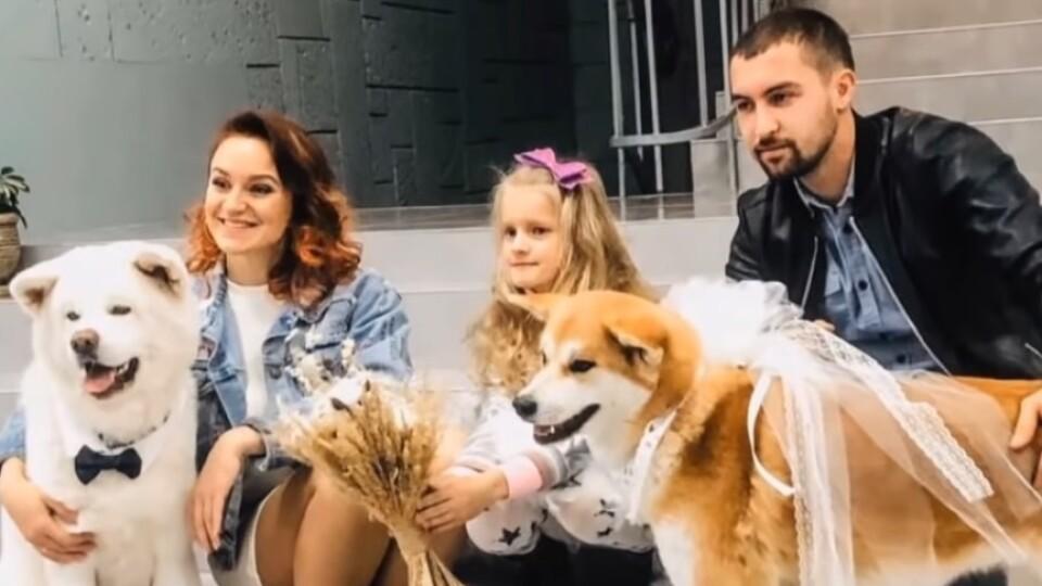 На весілля запросили собак. На Волині пара оригінально відзначила одруження
