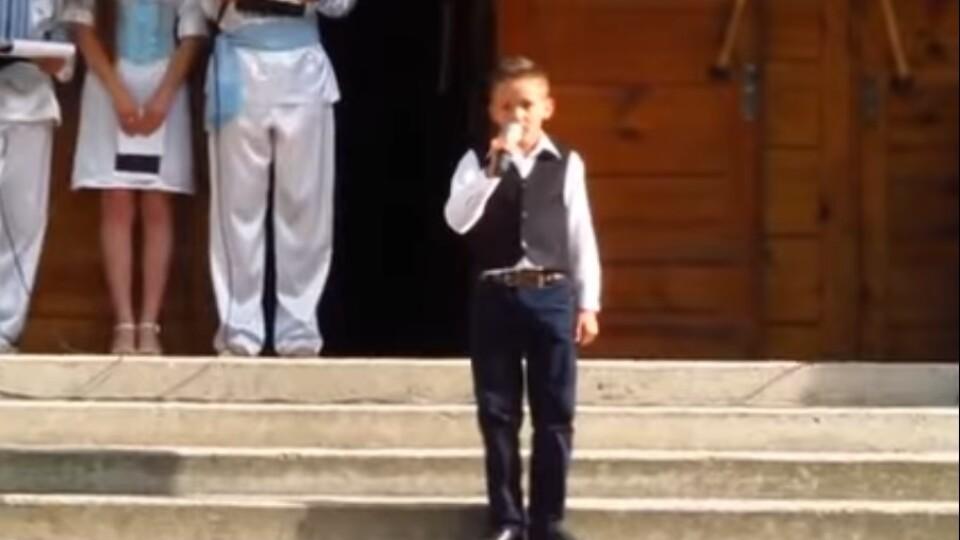 Як співав фіналіст «Голосу. Діти» з Волині Ярослав Карпук чотири роки тому