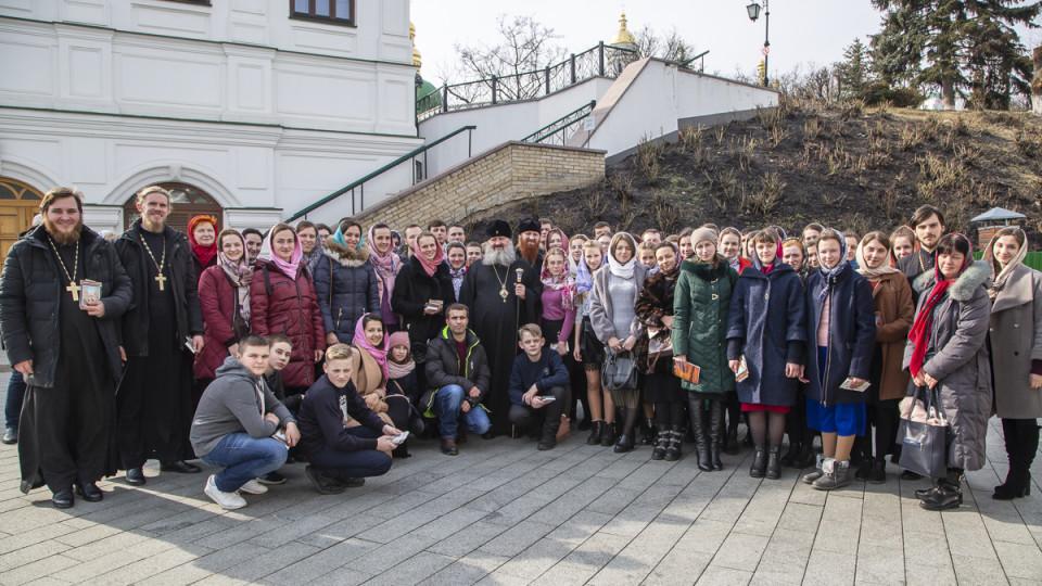 Паломники з Волині відвідали Києво-Печерську Лавру та зустрілися з її настоятелем. ФОТО