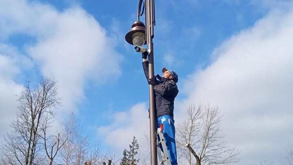 У Центральному парку Луцька почали встановлювати систему відеонагляду